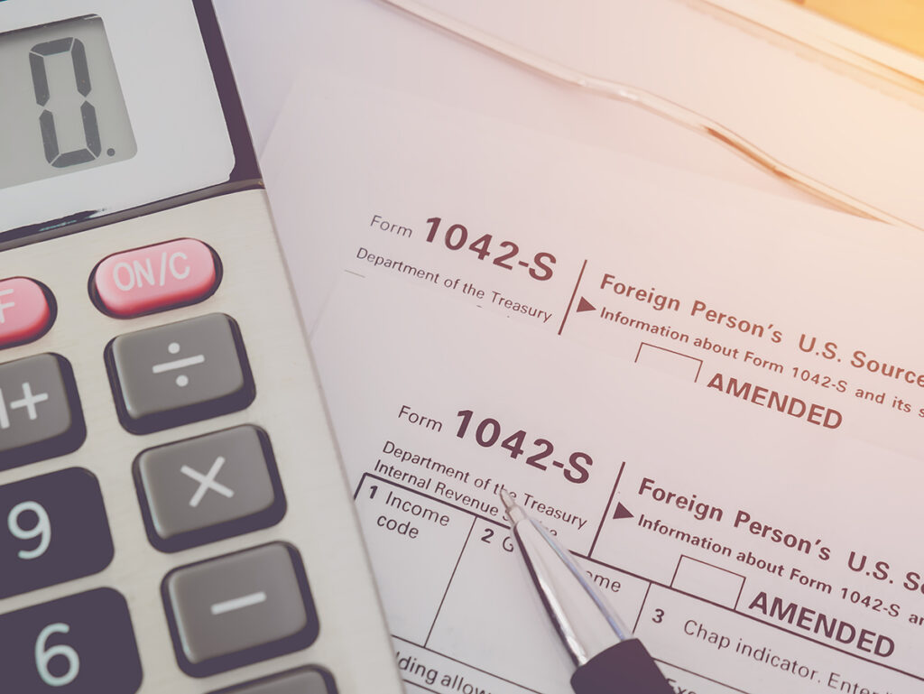 Printed Copies of Form 1042-S